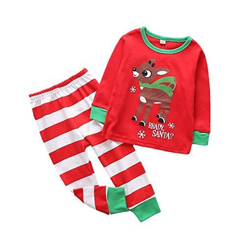 Kostüm Gestreifte Baumwolle - DYMAS Weihnachten Kostüm Baumwolle Home Anzug Kinder Weihnachten Elch kleine Männer und Frauen Kleidung gestreift Hose
