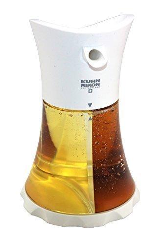 Kuhn Rikon Öl/Essig Spender Weiß, einfache und stylische Aufbewahrung! mit zwei getrennten Bereichen individuell befüllbar!