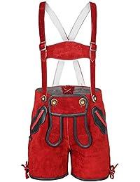 Unisex - Kinder Stützle Kinderlederhose rot, rot,