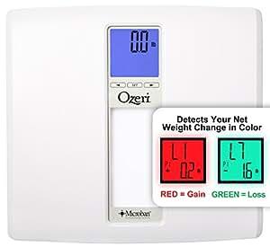 Bilancia digitale da bagno Ozeri WeightMaster II (200 kg), con calcolo IMC e rilevamento delle variazioni di peso (bianca)