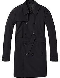 Scotch & Soda Men's Trench Coat In Peach Nylon Quality Jacket