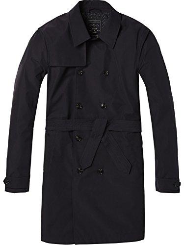 Scotch & Soda Herren Trench Coat in Peach Nylon Quality Jacke, Blau (Night 0002), Medium (Trench Coats Männer)