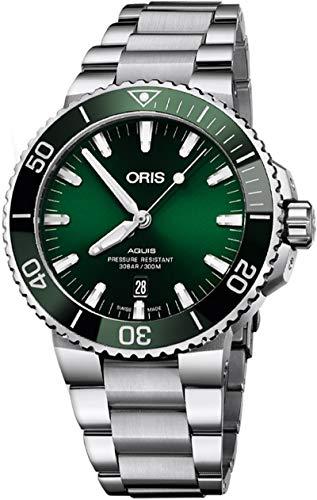 Oris Aquis - Orologio da uomo con data, quadrante verde 43,5 mm, in acciaio, riferimento: 01 733 7730 4157-07 8 24 05PEB