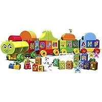 TOY SPOTS 75 pcs Alphabet Train Building Construction Blocks for Kids Bricks&Shapes Interlocking Connector,Best Gift Toy…