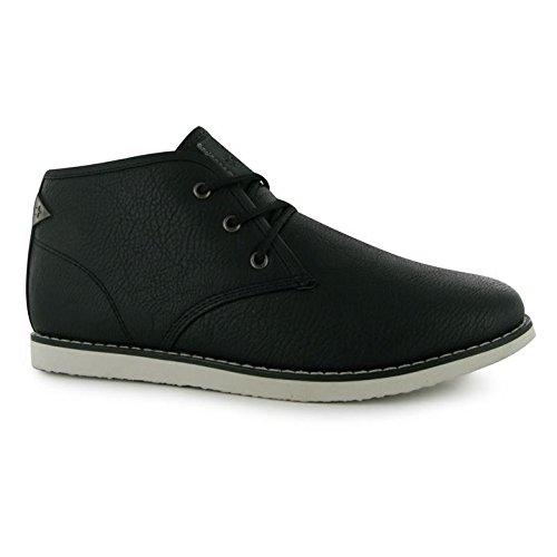 Soviet Enfants Whitechapel Junior Garcons Chaussures Montantes Chukka Bottines Black/White
