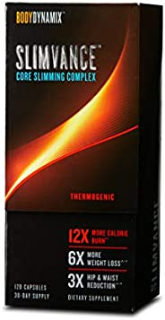 GNC BodyDynamix Slimvance Core Slimming Complex - Thermogenic (120 Capsules)