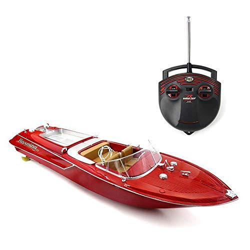 Ledu Fernbedienung, 4-Kanal-Schnellboot großes Sommerwasser-Spielzeug, nautisches Modell, hohe Geschwindigkeit, Wasserwettbewerb, geeignet für Sommerstrand, Kleiner See, geeignet für kleine Kinder