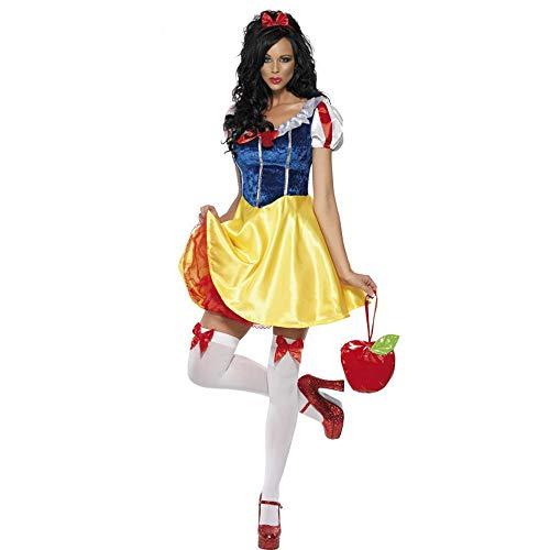 希倍朦 Große Cosplay Damen Halloween Kostüm Sexy Schneewittchen Rock (Color : Multi-Colored, Size : XL)