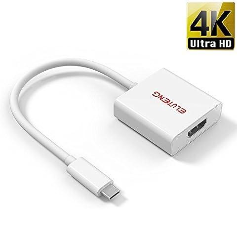 ELUTENG USB Type C HDMI 4K Kabel Vergoldet USB C to HDMI Adapter für MacBook, Chromebook, Or Type C NoteBook Konverter