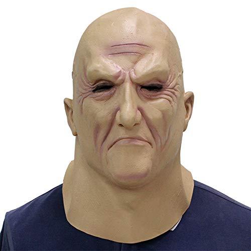 HNTLY All Saints Festival Beängstigend Beängstigend Make-up Ball Latex Maske Vollkopf Set Alten Mann - All Saints Kostüm Kinder