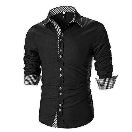 Blusa Suéter BBestseller Camisa Bambú Fibra Hombre, Manga Larga, Slim Fit, Camisa...