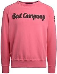 Best Company Felpa Girocollo in Cotone Rosa e Fango