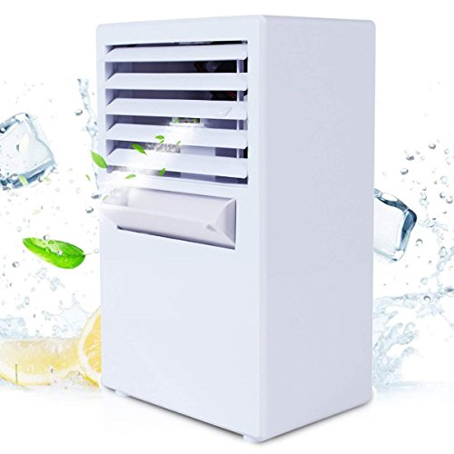 Refroidisseur D'air - ABREOME 2 in 1 Climatiseur Mobile - Ventilateur Portable - Refroidisseur D'air