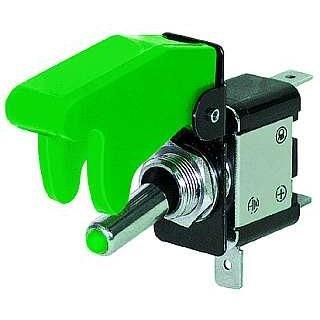 Preisvergleich Produktbild Ett Kill-Switch mit Schutzkappe und LED,  12V / 35A,  grün Kippschalter