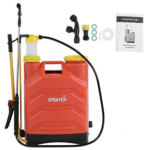 Handsprüher, 20L Hochleistungs-Druckrucksacksprüher Hand-Gartensprüher mit 3 verschiedenen Sprinklern und Filter für die Gartenbewässerung / -Reinigung von Fahrzeugen/Hygienedesinfektion -