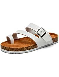 Unisex Adulto Sandali Sughero - Pantofole Estive - Scarpe da Spiaggia - con  Fibbie 5a45492a313