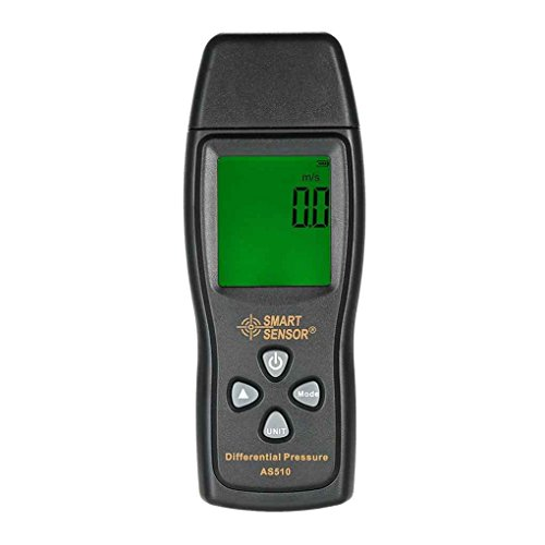 coconut SMART SENSOR AS510 Differenzdruckmesser Digital-0-100 hPa/0-45,15 in H2O Manometer Negativen Vakuumdruckmessger?t -