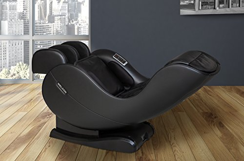 WELCON Massagesessel EASYRELAXX in SCHWARZ mit Wärmefunktion - unser Neuer Massagestuhl - Neigungsverstellung elektrisch Automatikprogramme Knetmassage Klopfmassage Rollenmassage Sessel Massagestuhl