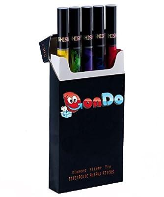 E-Shisha Taschen Elektrische Einweg Shisha Wasserpfeife Pfeife Vapor Hookah - 5 Geschmacksrichtungen Set *Nikotinfrei und Tabakfrei* von DonDo