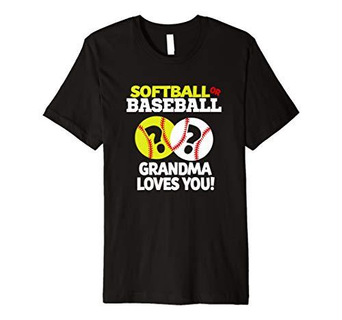 Geschlecht Reveal Shirt für Oma Softball oder Baseball TShirt