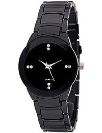 DAIZEL™ Round Dial Premium Quality Series Analogue Black Dial Black Stainless Steel Strape Fashion Wrist Watch...