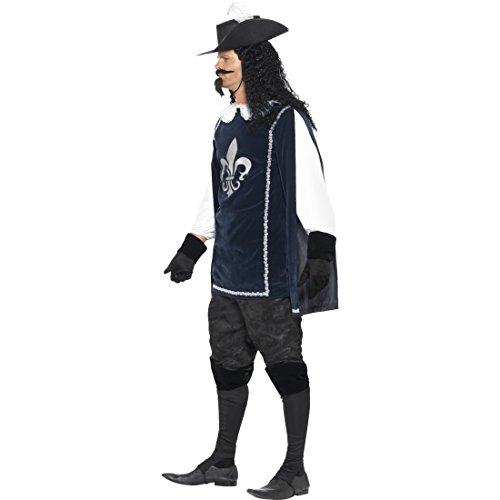 Kostüm Drei Musketiere Die D'artagnan (D'Artagnan Herrenkostüm Mittelalterkostüm L 52/54 Die Drei Musketiere Musketier Kostüm Karnevalskostüm Herren Renaissance Infanterie Königliche Garde)