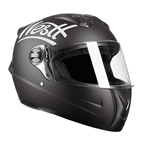 westt storm casco de moto integral negro mate - motocicleta scooter ligero - certificado ece