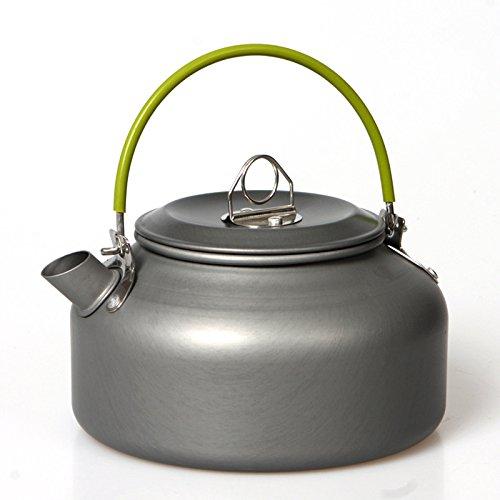 HCFKJ Im freien Kaffee Teekanne Camping Wandern Picknick BBQ Wasserkocher Wasser Topf Aluminium