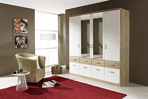 Avanti trendstore - armadio in colore quercia sonoma/ bianco , 181x199x56cm