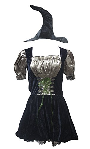 petitebelle Halloween-Kostüm khaki Pretty Hexe Party Dress Up für Frauen Gr. One Size, braun