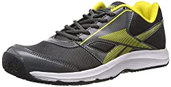 Reebok Mens Ultimate Speed III Lp Grey, Yellow, White and Black Mesh Running Shoes - 7 UK