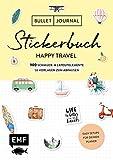Bullet Journal - Stickerbuch Happy Travel: 750 Schmuck- und Layoutelemente rund um das Thema Reisen: Mit Journal-Tipps, Reise-Inspirationen und 100 Vorlagen zum Abpausen -