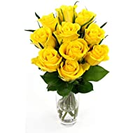 Fabulously Floral Short Stem Yellow Roses Bouquet, 10 Stems