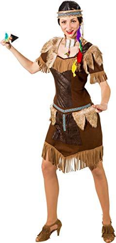Indian Girl rot-gold, Mottoparty Indien Kostüme Verkleidungen,