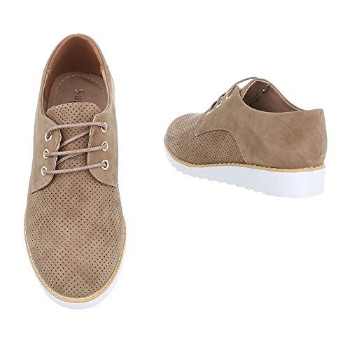 Baixos Senhoras Schnürer ital Sapatos Lace Castanho 62023 Claro Oxford Design De Sapatos dfnarqap8x