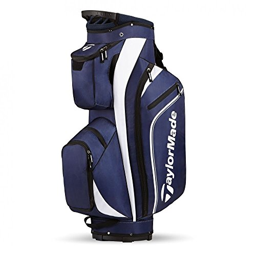 TaylorMade 2016 Pro Cart 4.0 Cart Bag Mens Golf Trolley Bag 14-Way Divider Navy/Blanc
