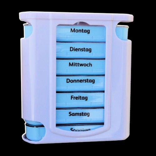 Pillendose Pillenbox Pillenturm Tabletten-Box Medikamentenbox 7 Tage / 4x proTag preisvergleich