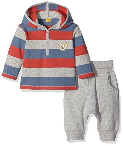 Steiff Collection Jungen Bekleidungsset Set 2tlg. Sweatshirt 1/1 Arm + Jogg, Gr. 74, Mehrfarbig (y/d stripe 0001)