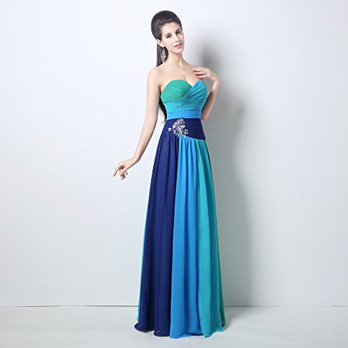 Bridal_Mall - Robe - Sans Manche - Femme Multicolore - Multicolore