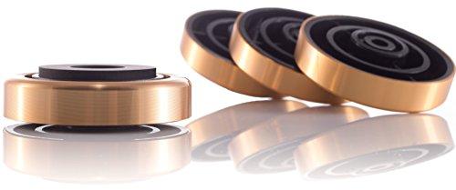 Hifi Lab Aluminium Füße 40x12 Geräte-Füße Alu Audio Absorber Gold Feet edel 4X (Aluminium-dampfer)