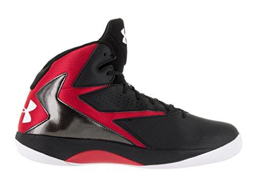 Under Armour Ua Lockdown, Scarpe da Basket Uomo Black/Red/White