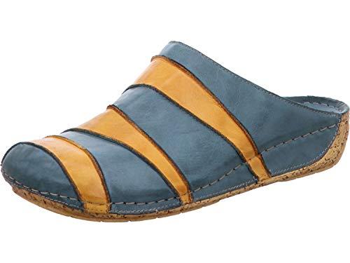 Gemini 032091-01 Damen Leder Pantoletten Clogs, Schuhgröße:39 EU, Farbe:Blau
