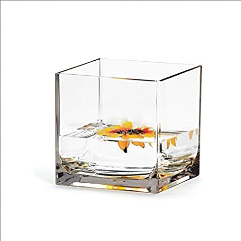 Vase en verre incassable cristal acrylique transparent, boîte carrée d'eau