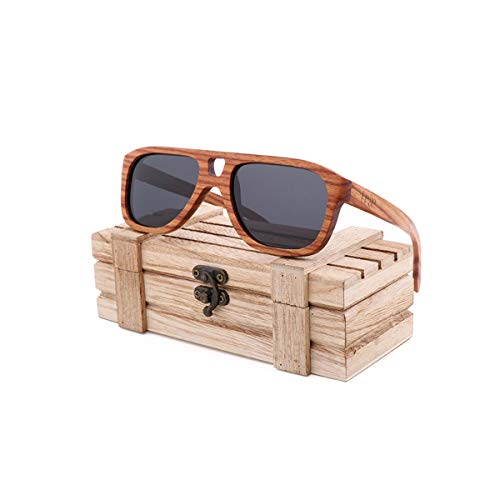 RTGreat New Spot Cross-Border Hot Selling Natural Environmental Bamboo Sunglasses Sonnenbrille Retro Men's And Women's Sunglasses Sonnenbrille Can Be Engravedlogo Gray WoodBox
