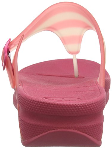 FitFlop Damen Superjelly with Stripe Sandalen Pink (Bubblegum)
