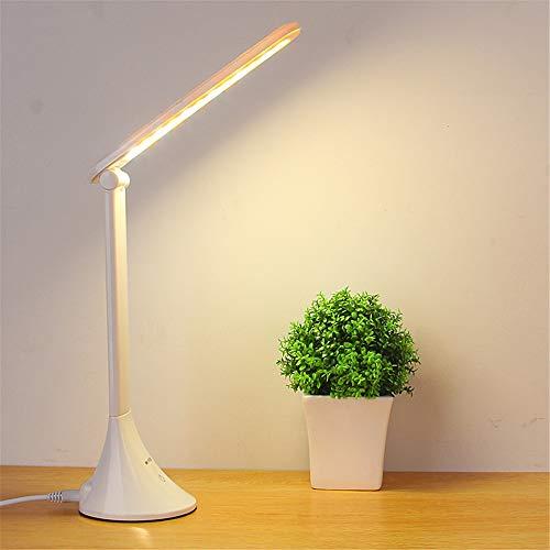Usb Powered Led Touch Tischlampe Zusammenklappbar Dimmen Schreibtischlampe Led Augenschutz Leselampe Schülerarbeit Schreibtischlampe Weiß 275 * 90Mm (Usb + Laden)