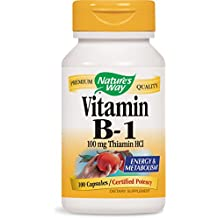Nature's Way Vitamin B-1, 100 Caps 100 MG