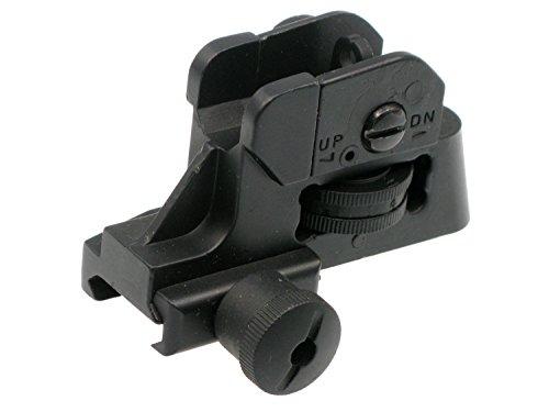 BEGADI M4 Rear Sight für Softair / Airsoft M4 & M16 Modelle, bestehend aus Metall - verstellbar -