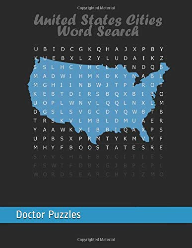 United States Cities Word Search: USA Geography Puzzle por Doctor Puzzles