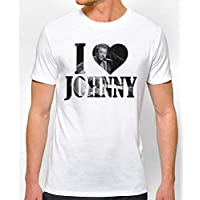 T-Shirt fan homme I love Johnny hallyday